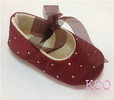 Style FJS017 Burgundy~Girls Shoes